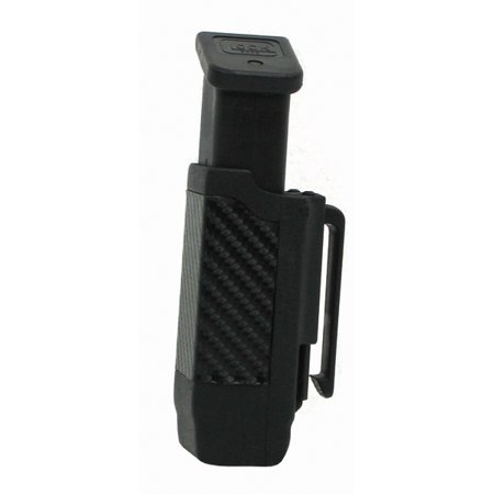 (Blackhawk Single Mag Case Double Stack Black Carbon Fiber)