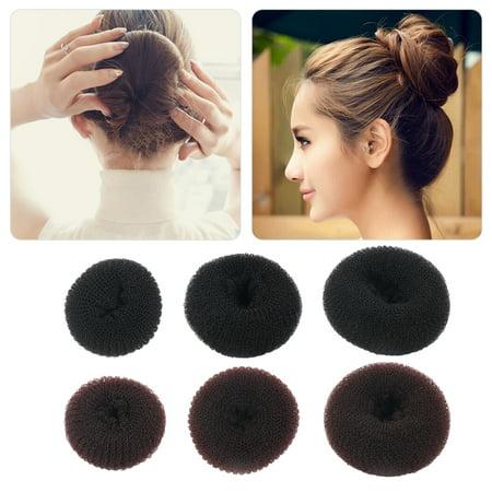 Women S Sponge Hair Bun Maker Ring Donut Shape Hairband Styler Tool