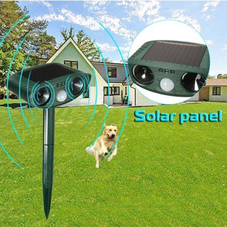 (Ultrasonic Solar Powered Dog Cat Repellent Animal Controller Animals Repeller For Outdoor Lawn Garden Yards)