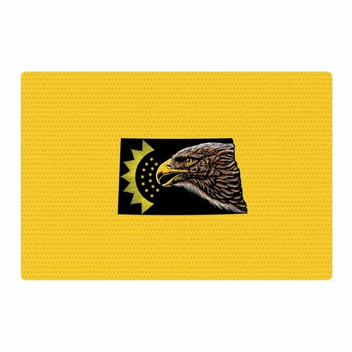 East Urban Home BarmalisiRTB North Dakota Digital Yellow/Black Area Rug