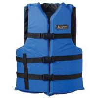 Onyx Universal Adult Extra-Large Boating Vest, Blue