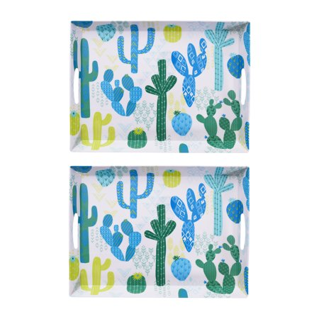 Mainstays Outdoor Melamine Cactus Serve Tray, Set of 2