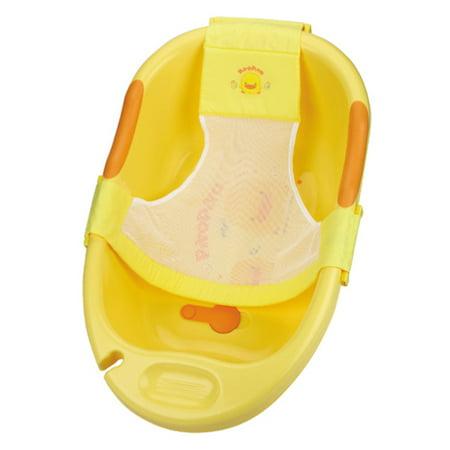 piyo piyo yellow deluxe bathtub w bath sling. Black Bedroom Furniture Sets. Home Design Ideas