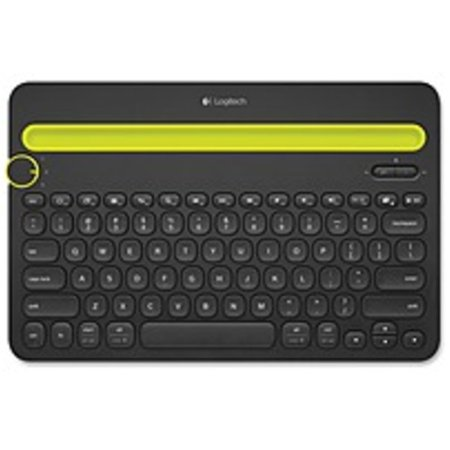 Refurbished Logitech Bluetooth Multi-Device Keyboard K480 - Wireless Connectivity - Bluetooth - English, French - Compatible with Computer, Tablet, Smartphone - QWERTY Keys Layout -