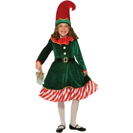 Elf Costume For Boy (Kids Santa'S Little Elf)