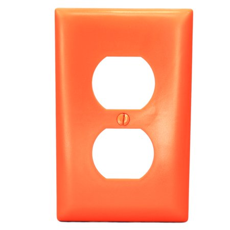 P&S Orange 1-Gang UNBREAKABLE Duplex Receptacle Outlet Nylon Wallplate (Outlet At Orange Stores)