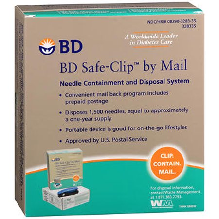 - BD Safe-Clip by Mail Needle Containment and Disposal System