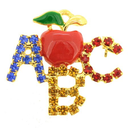- Teachers Apple ABC Brooch Pin