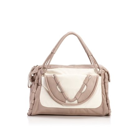 Cynthia Rowley Calloway Satchel Light Grey And Cream Purse Handbag