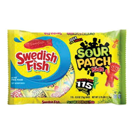 Product of Sour Patch Kids Candy and Swedish Fish Candy Variety Pack, 115 ct. [Biz Discount] - Individually Wrapped Swedish Fish