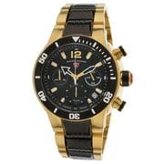 14083Sm-Yg-11-Bb Sharkarma Chrono Two-Tone Stainless Steel Black Dial & Bezel Watch