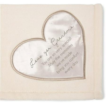 "Pavilion Gift Company ""Love You Grandma"" Plush Throw Blanket, 60 X 50 inches"
