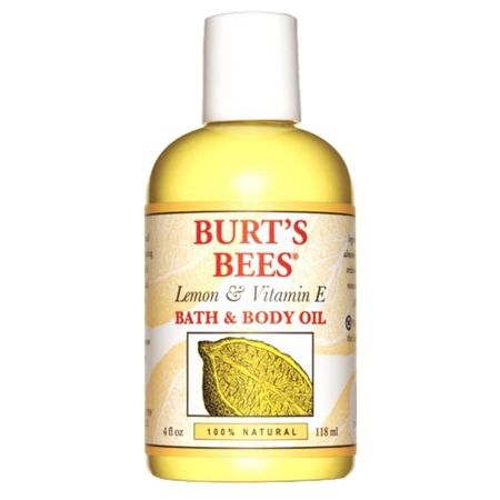 Burt's Bees Body & Bath Oil Lemon & Vitamin E 4.0 fl oz(pack of 4)