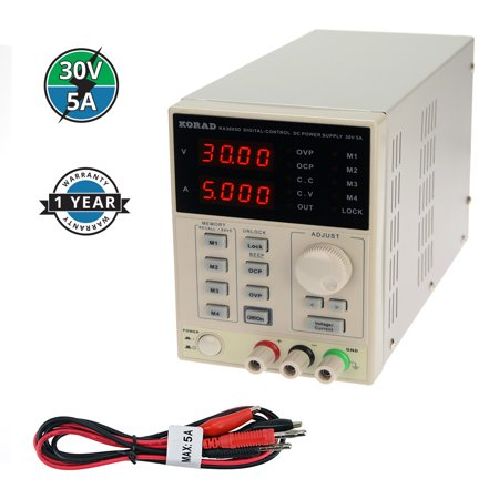 KORAD KA3005D - Precision Variable Adjustable 30V, 5A  DC Linear Power Supply Digital Regulated Lab Grade ()