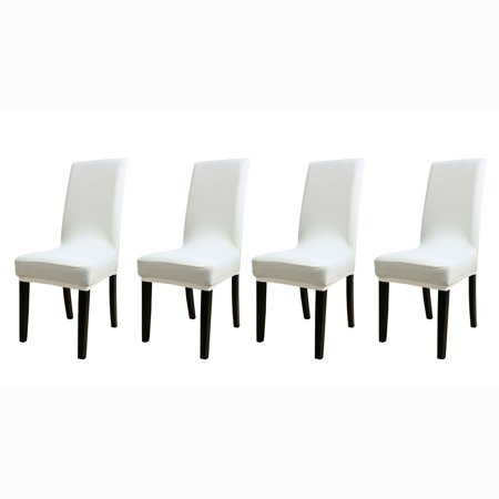 Outstanding Spandex Stretch Removable Dining Chair Cover Protector Creamy White 4Pcs Pabps2019 Chair Design Images Pabps2019Com