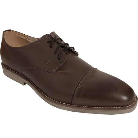 AMERICAN SHOE FACTORY Coffee Leather Lined Upper Oxfords, Men