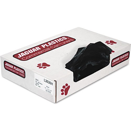 Jaguar Plastics Industrial Strength Black Commercial Can Liners, 30 gal, 200 ct