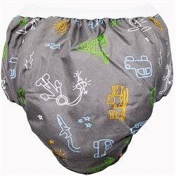 Potty Taffeta Training Pants - Medium - Charcoal Transport By Kushies Ship from US