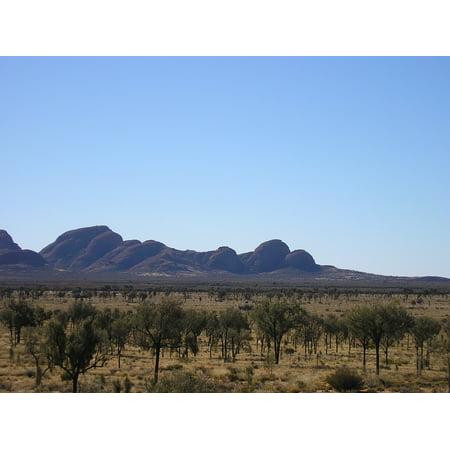 LAMINATED POSTER Australia Kata Tjuta Outback Desert Poster 24x16 Adhesive Decal