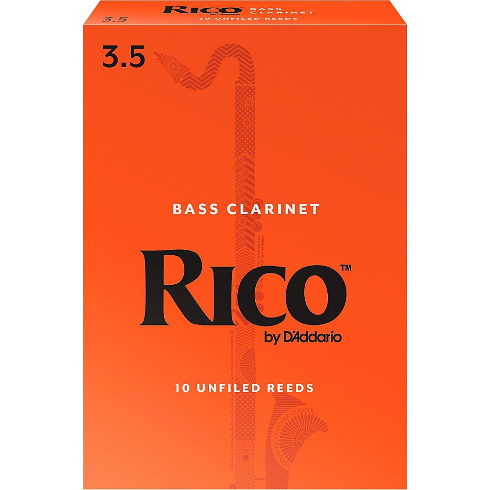 Rico Bass Clarinet Reeds, Box of 10 Strength 3.5 by Rico