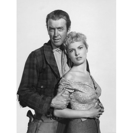 THE NAKED SPUR, 1953 directed by ANTHONY MANN James Stewart and Janet Leigh (b/w photo) Print Wall Art (Spkr Wall Mount)