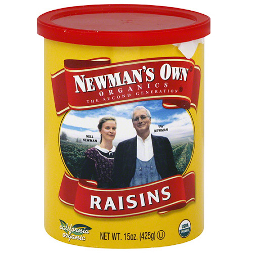Newman's Own Organics Raisins, 15 oz, (Pack of 12)