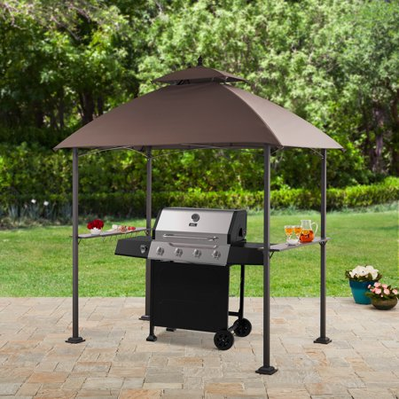 (Mainstays Ledger 7.8W x 4.9D ft. Outdoor Canopy Top Grill Gazebo)