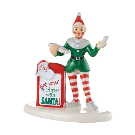 department 56 village get your pictures with santa accessory figurine, 3.07