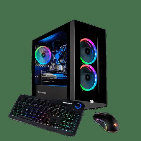 iBUYPOWER Gaming Desktop PC - (Element Mini 194i, Intel i3 10105F, 8GB DDR4 3000Memory, GeForce GT 710 1GB, 480GB SSD, RGB - Windows 10 Home 64-Bit)