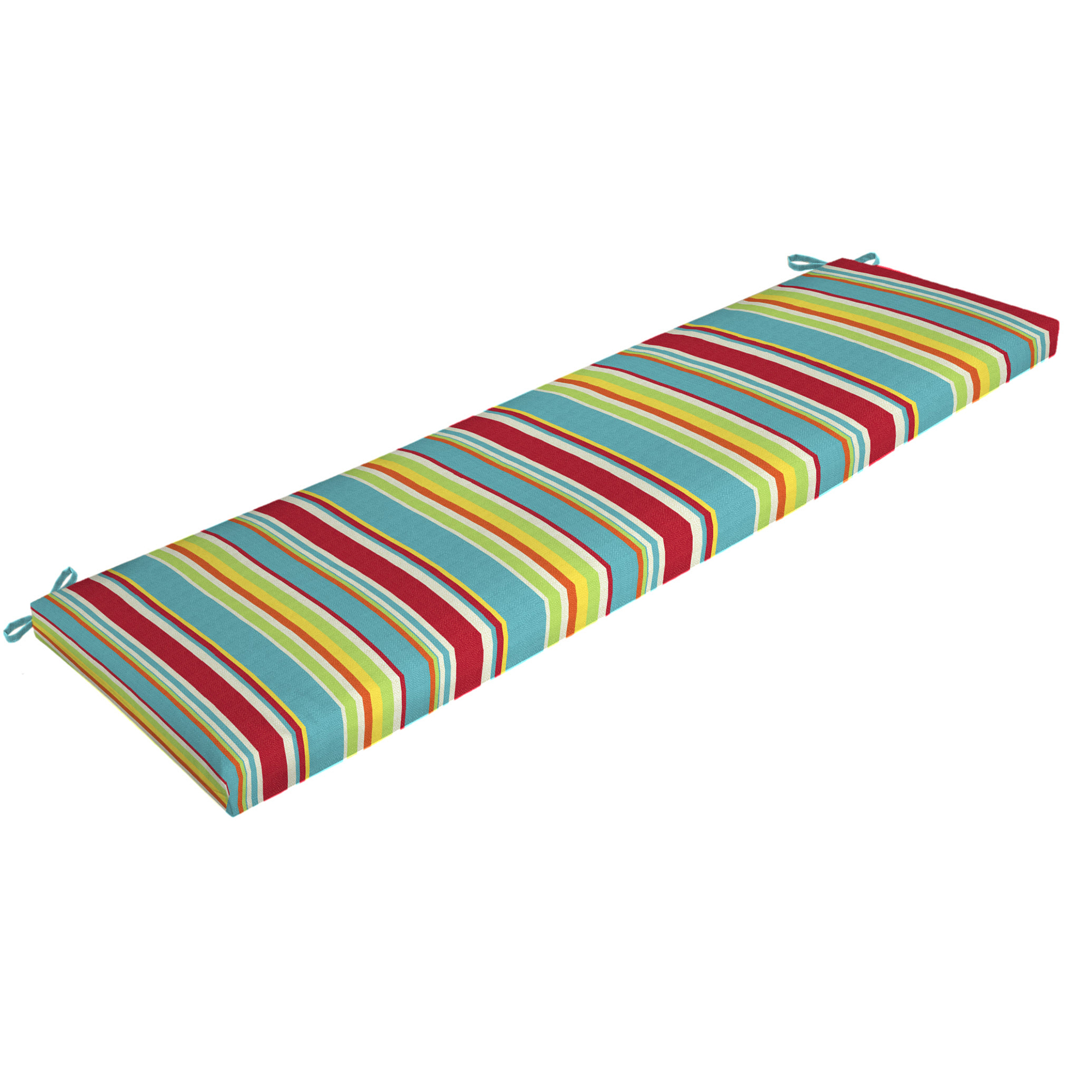 Mainstays Multi Stripe Outdoor Patio Bench Cushion