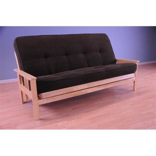 Convertible Monterey Futon Sofa with Tantra Espresso Mattress