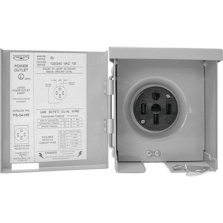 Connecticut Electric Cesmps54Hr 50-Amps/120240-Volt Rv Power Outlet