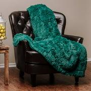 Chanasya Super Shaggy Elegent Sherpa Long Fur Throw Blanket