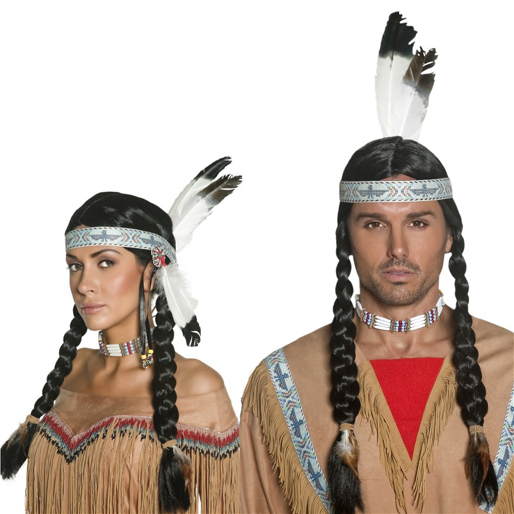 Native Indian Wig Adult Costume Accessory