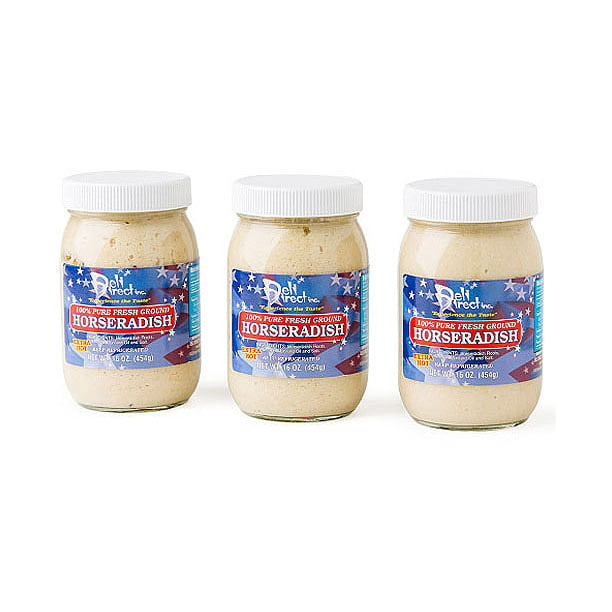 Deli Direct Extra Hot 100 Pure Fresh Ground Horseradish 16 Oz 3 Count Walmart Com Walmart Com