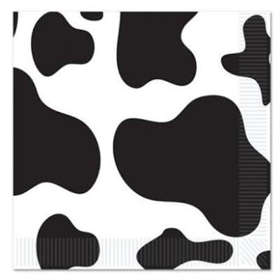 Cow Print Beverage Napkins , 4PK for $<!---->