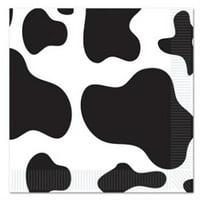 Cow Print Beverage Napkins , 4PK