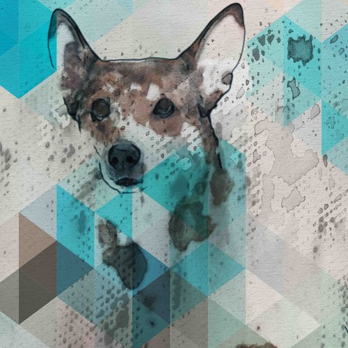 Marmont Hill 'Dog Walker' by Irena Orlov Painting Print on Wrapped Canvas