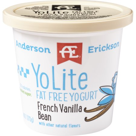 Anderson Erickson YoLite Fat Free French Vanilla Bean Yogurt, 6 oz