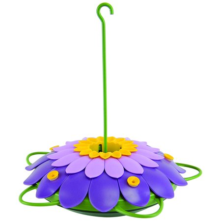 Image of Nature's Way Bird Products 3DHF2 So Real 3D Flower Hummingbird Feeder, Purple, Unique design creates an easy-to-use hummingbird feederWalmartbined with a.., By Natures Way Bird Products