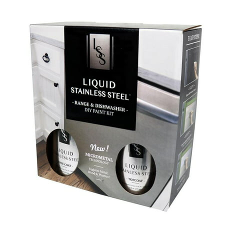 Liquid Stainless Steel Range and Dishwasher Makeover Paint - Liquid Crystal Paint