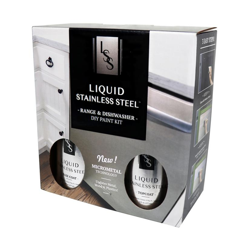 Liquid Stainless Steel Range and Dishwasher Makeover Paint Kit