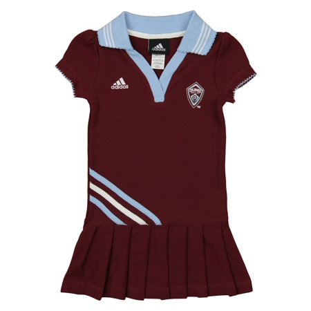 Adidas MLS Toddler Girls Colorado Rapids Polo Dress, Maroon ()