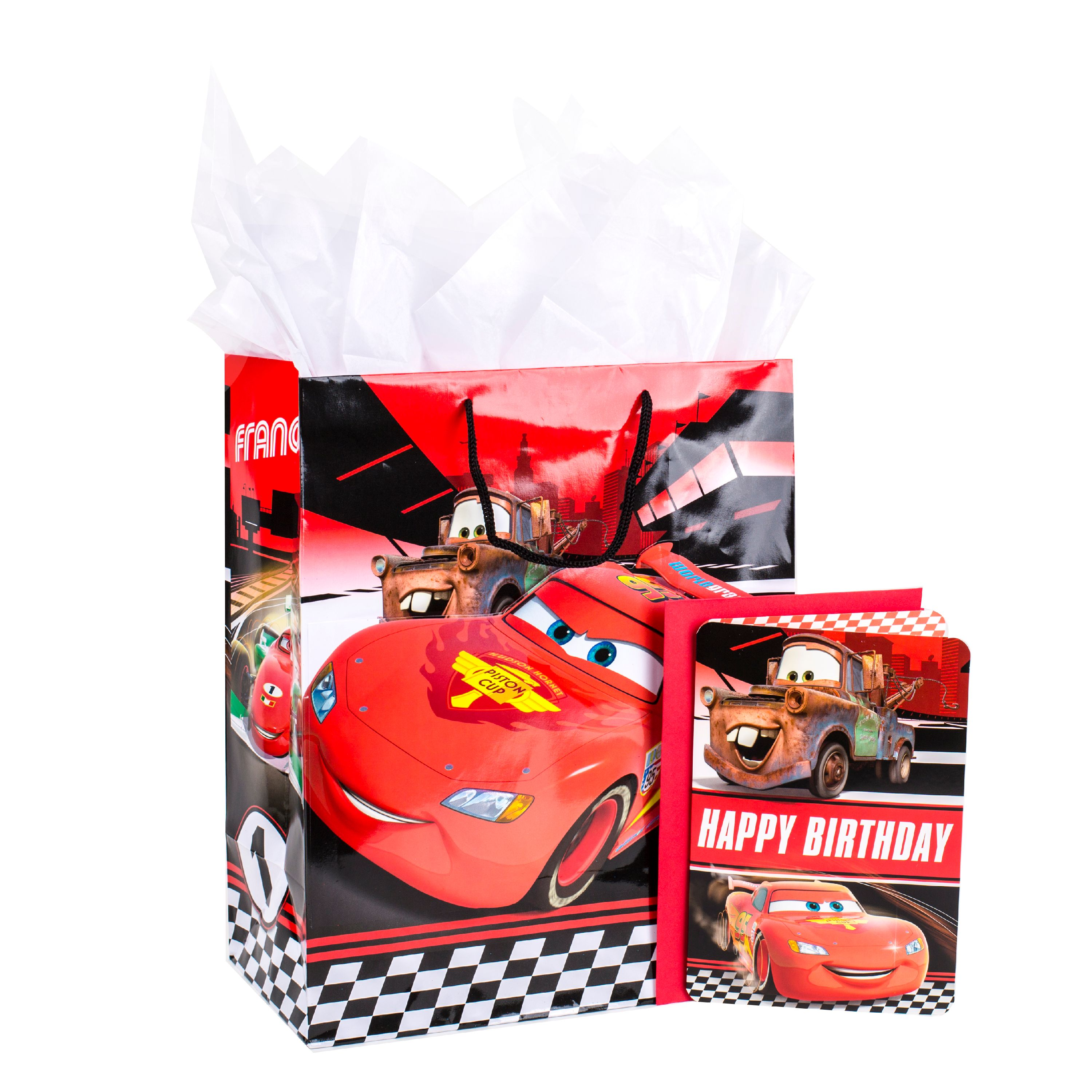 Hallmark, Disney Cars, Large Birthday Gift Bag with Card and Tissue Paper