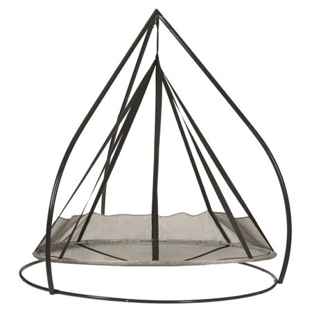 7 Flying Saucer Hanging Patio Hammock with Stand - Silver - FlowerHouse