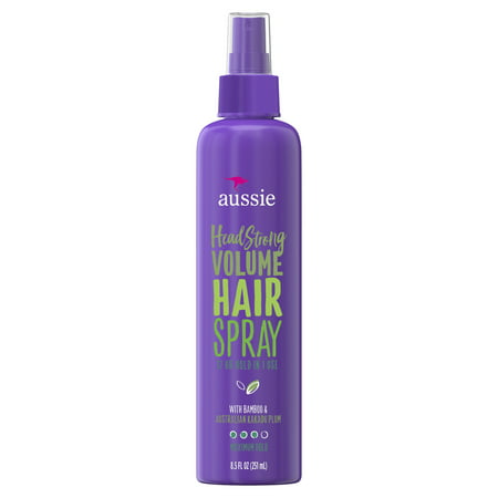 Hair Bamboo ((2 pack) Aussie Headstrong Volume Non-Aerosol Hairspray with Bamboo & Plum 8.5 fl oz )