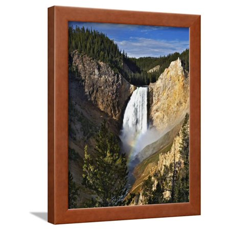Waterfall in Yellowstone National Park Framed Print Wall Art By Adam Jones
