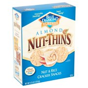 Blue Diamond Almonds Nut-Thins Almond Nut & Rice Cracker Snacks, 4.25 oz