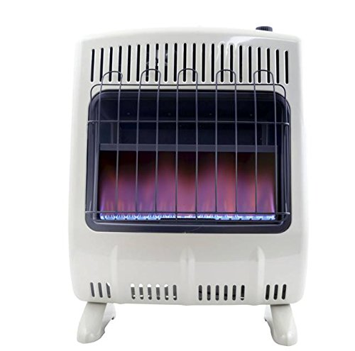 Mr. Heater 20K BTU Vent Free Blue Flame Natural Gas Heater w/Blower (Heats 500 SQ.FT)