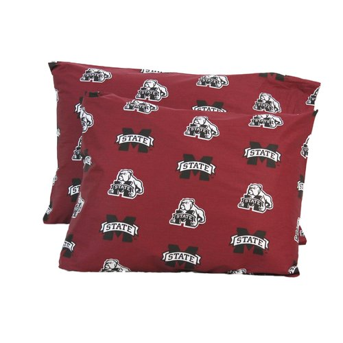 College Covers NCAA Mississippi State Pillowcase (Set of 2)